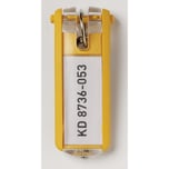 Durable Schlüsselanhänger Key Clip Nr. 1957-03. gelb PA= 6Stk.