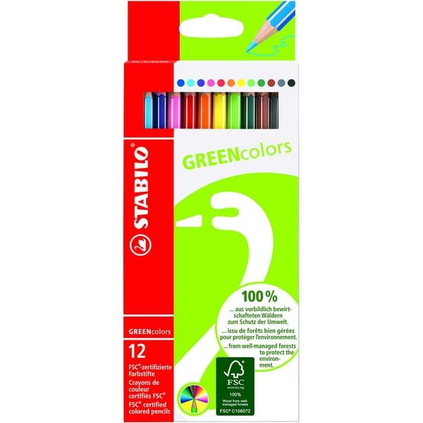 Stabilo Farbstift Greencolors sortiert Nr. 6019/2-121 sortiert PA 12 Stück