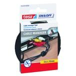 tesa Klettband Cable Manager 10mm x 5m Nr. 55239 schwarz Kabelbinder