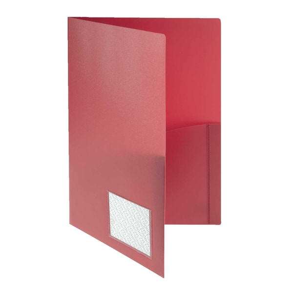 Foldersys Broschürenmappe A4 PP m.Klarsichttasche rot 10008-80
