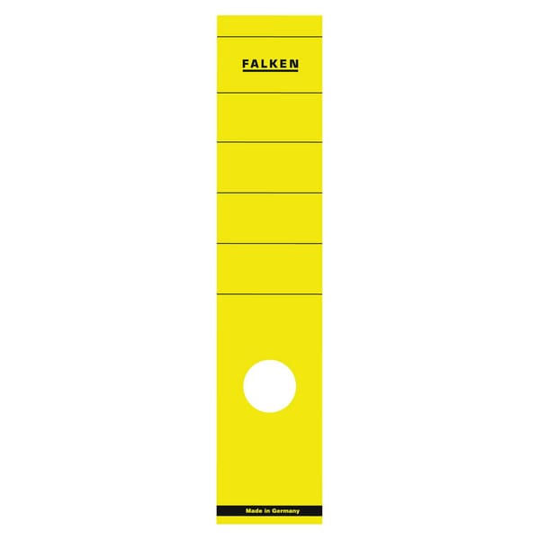 Falken Rückenschild breit/lang gelb Nr. 11287018 PA 10 Stückselbstklebend