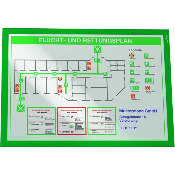 Durable Magnetrahmen Duraframe A3 grün Nr. 4873-05 PA 2Stk
