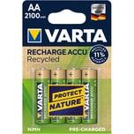 Varta Akku Recycled AA Mignon NIMH Nr. 56816101404. 1.2V. HR06. 2.100mAh. PA= 4Stk.