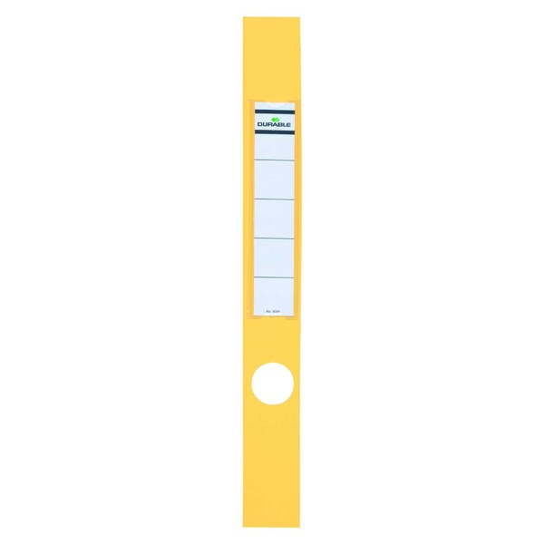 Durable Ordofix Rückenschild gelb Nr. 8091-04 schmal/lang PA 10 Stück