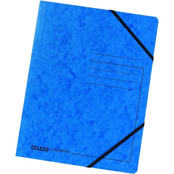 Falken Eckspanner Colorspan A4 blau Nr. 11286473 355g/m² ohne Klappen