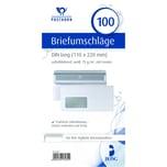 Posthorn Briefumschlag DL mit Fenster weiß selbstklebend 75g Nr. 02220617 PA= 100Stk