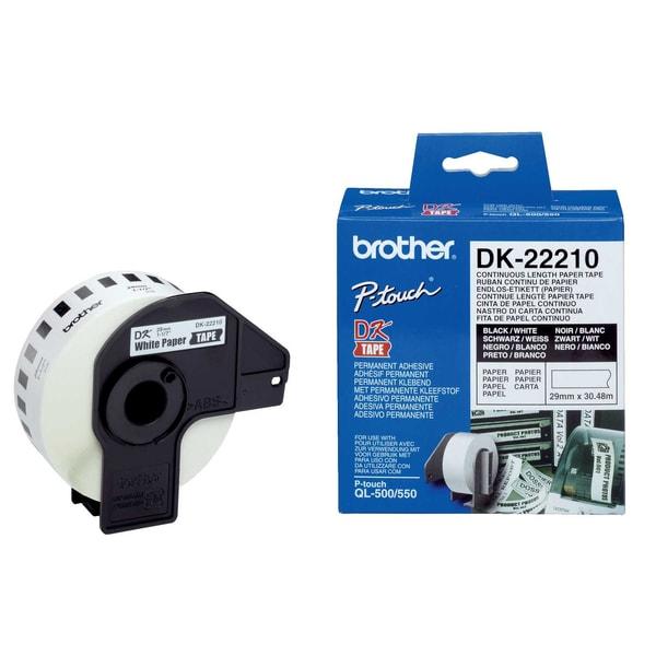 Brother Endlosetikett DK 22210 weiß 29mm x 3048m Papier