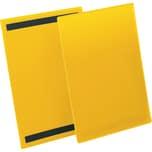 Durable Kennzeichnungstasche A4 hoch Nr. 1744-04. magnetisch gelb. PA= 50Stk