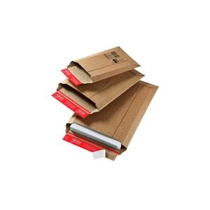 ColomPac Versandtasche A4 selbstklebend 215 x 300 braun ohne Fenster Wellpappe