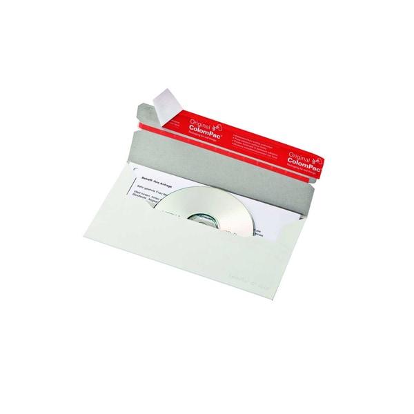 ColomPac CD/DVD Versandtasche sk weiß ohne Fenster 121x22cm