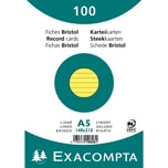 ExacomPTA Karteikarte A5 liniert gelb Nr. 10828SE. PA= 100Stk