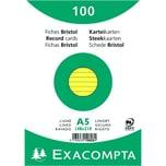 ExacomPTA Karteikarte A5 liniert gelb Nr. 10828SE PA 100 Stück
