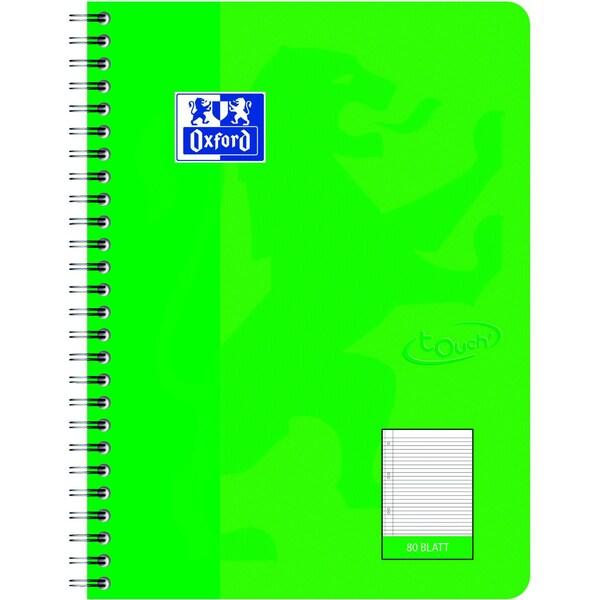 Oxford Collegeblock Touch B5 liniert Nr. 400086491 80 Blatt 90gm² grasgrün