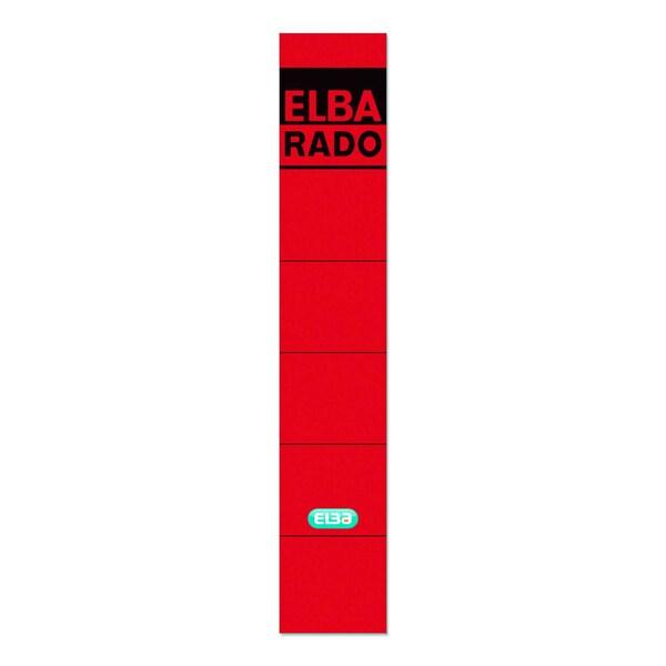 Elba Rückenschild schmal/kurz rot 100420945 sk PA10Sthandbeschreibbar