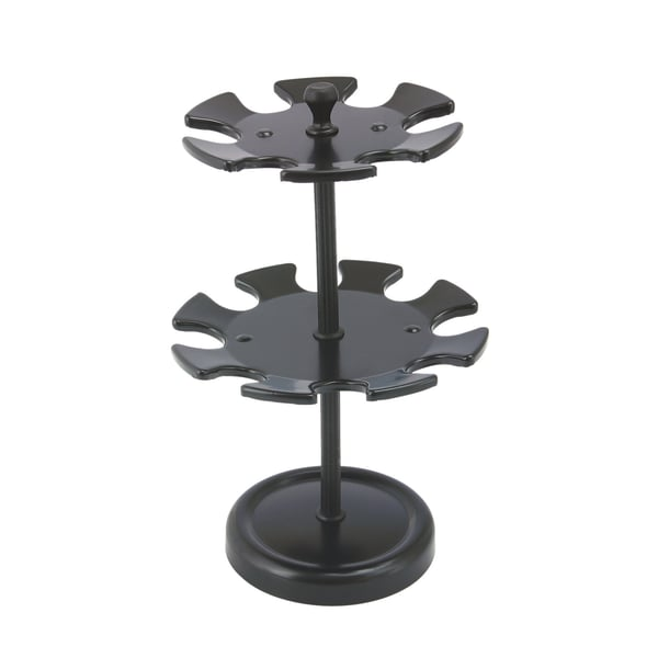 Stempelhalter Schwarz Metall 2 Etagen Für 14 Stempel