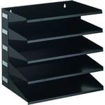 Durable Sortierstation A4 Belegfach Nr. 3360-01 5 Fächer Metall schwarz