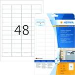 Herma Outdoor-Etikett Nr. 9531 weiß PA 480Stk 457x212mm Folie bedruckbar
