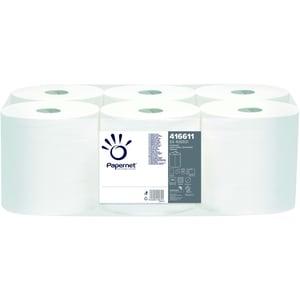 Papernet Handtuchrolle 416611 1lagig weiß 750Bl. 6 Rl./Pack.