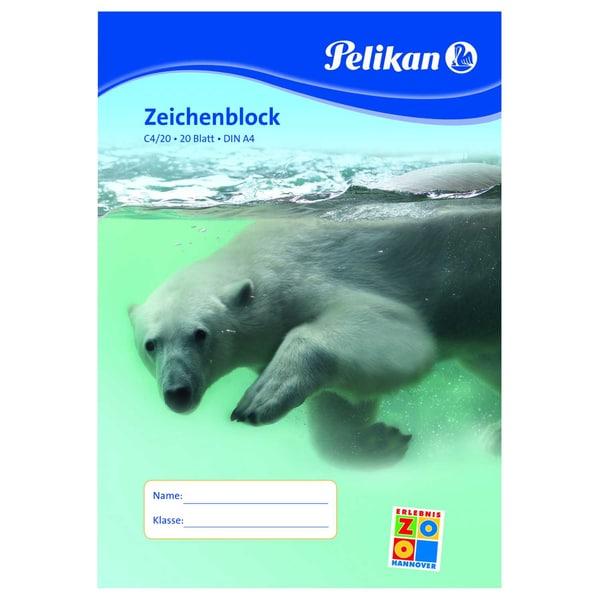 Pelikan Zeichenblock C4/20 A4 weiß Nr. 224824 20 Blatt chlorfrei100g/m²
