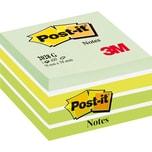 Post-it Haftnotiz 76x76mm pastellgrün Nr. 2028G. Würfel à 450 Blatt