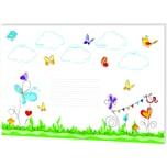RNK Schreibunterlage Schmetterlinge small table 46628 480x330mm 30Blatt
