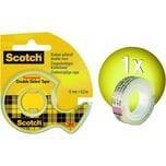 Scotch Klebeband 12mm x 63m transparent 665H1263 im Handabroller doppelseitig