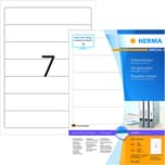 Herma Rückenschild Nr. 4283 weiß PA= 700Stk schmal/kurz sk bedruckbar