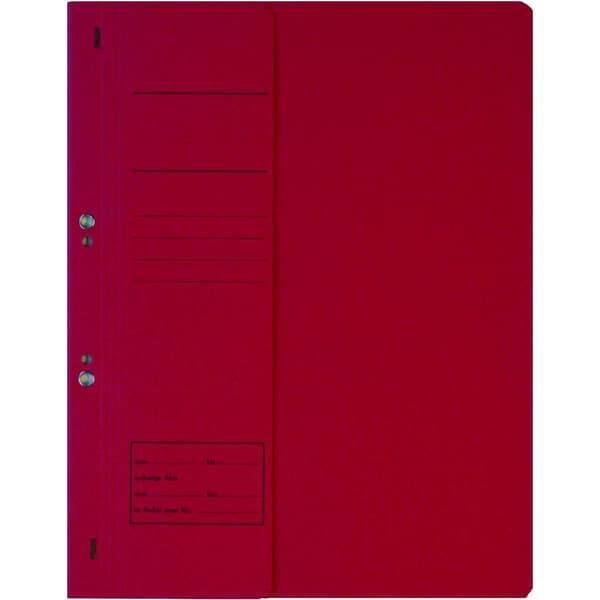 Ösenhefter A4 kfm. Heftung rot 250g/m² Karton halber Vorderdeckel