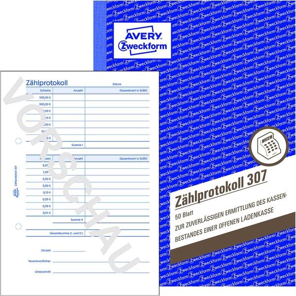 Avery Zweckform Zählprotokoll 307 A5 50 Blatt