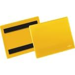 Durable Kennzeichnungstasche A6 qur Nr. 175604. magentisch gelb. PA=50 St.