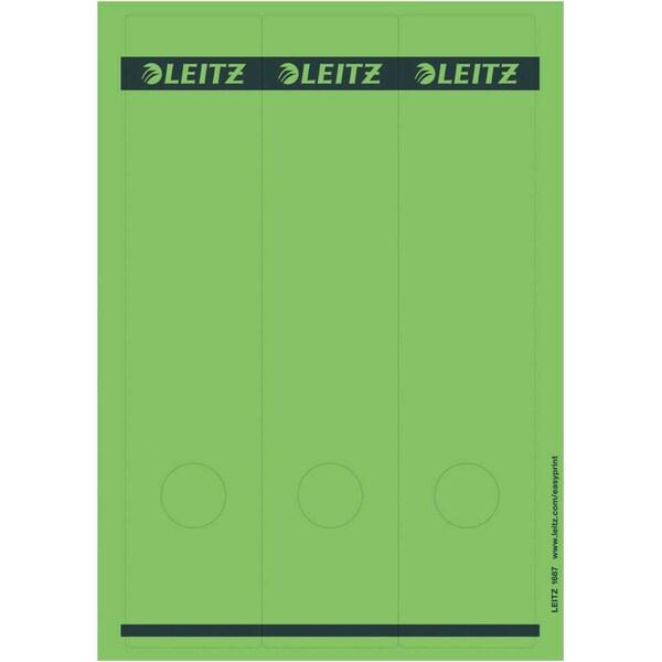 Leitz Rückenschild breit/lang grün Nr. 1687-55 sk PA 75St bedruckbar