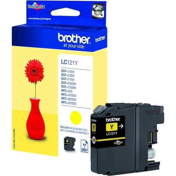 Brother Tintenpatrone LC121Y 300Seiten gelb
