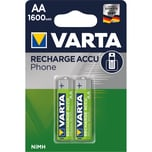 Varta Phone Rechargeable Akku AA Nr. 58399201402. 1.2V. HR06. 1.600mAh. PA= 2Stk