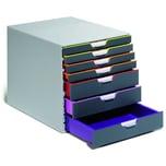 Durable Schubladenbox VARIColor 7 Nr. 7607-27 7 Schubfächer grau/farbig
