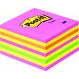 Post-it Haftnotiz 76x76mm neonpink Nr. 2028NP Würfel à 450 Blatt