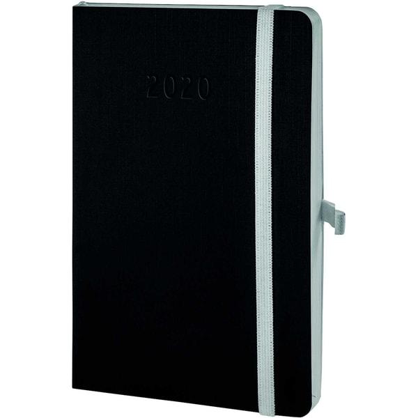Chronoplan Buchkalender Mini 2020 Nr. 50960 1W/2S Softcover Schwarz