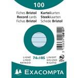 ExacomPTA Karteikarte A7 liniert blau Nr. 10810SE. PA= 100Stk