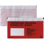 Bong Dokumententasche DL haftklebend rot Nr. 00014031. Liefschein/Rechnung (250 Stück)