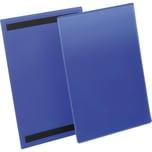 Durable Kennzeichnungstasche A4 hoch Nr. 1744-07. magnetisch blau. PA= 50Stk