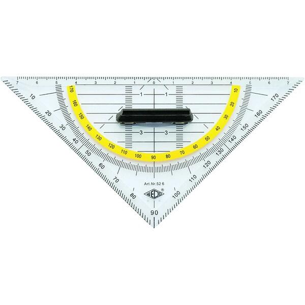 Wedo Geometrie-Dreieck 525 Standard mit Griff 16cm Länge der Hypotenuse