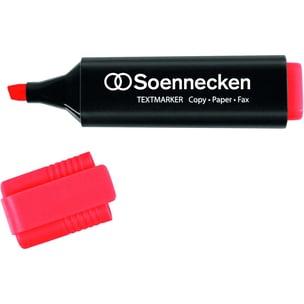 Soennecken Textmarker rot Nr. 3398 Keilspitze Strichbreite 2-5mm