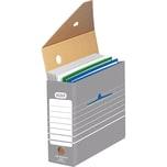 Elba Archivschachtel tric grau/weiß A4 Nr. 100333274 11x27x34cm Wellpappe