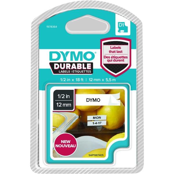 Dymo Schriftbandkassette 1978364 12mmx55m schwarz auf weiß D1