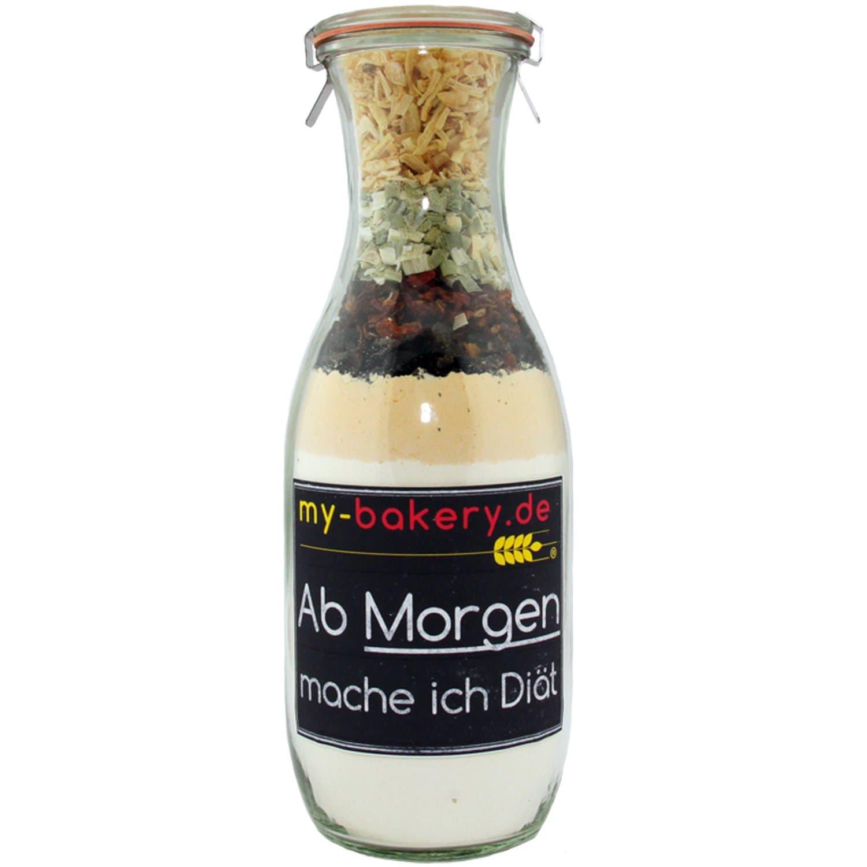 my-bakery Diät - Speck Tomaten Krustenbrot Backmischung im Glas 560g