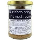 my-bakery Einkorn-Dinkelbrot im Glas mit Spruch - Nur Korn bringt uns nach vorn! 355 g