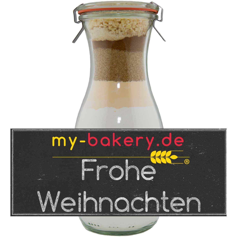 my-bakery Frohe Weihnachten Honig-Lebkuchen Backmischung im Glas 440g