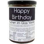my-bakery Vanillekuchen im Glas mit Spruch - Happy Birthday - Geburtstagskuchen 155g