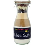 my-bakery Alles Gute - Triple Chocolate Cookies Backmischung im Glas 420g