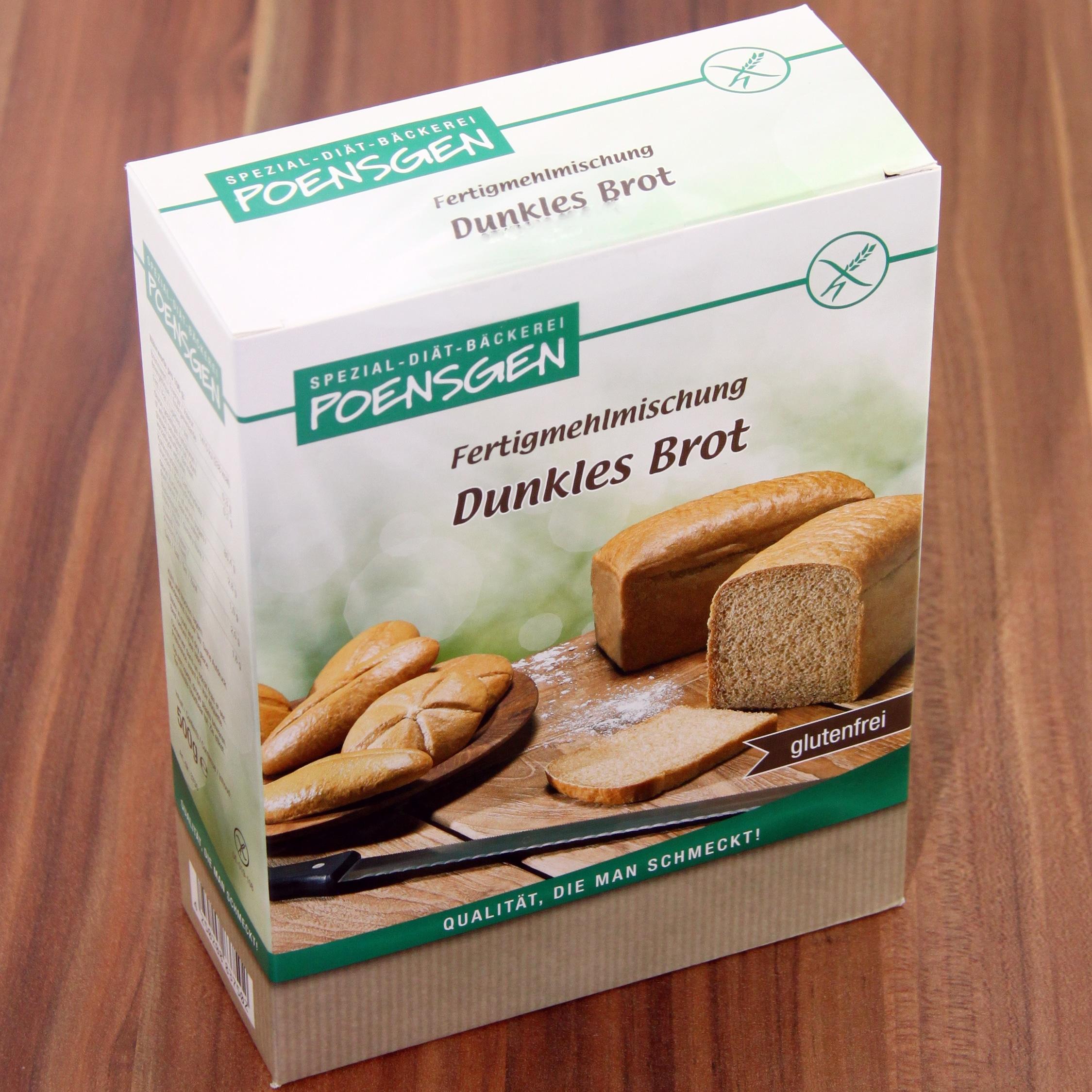 Poensgen Dunkles Brot Backmischung Glutenfrei 500g
