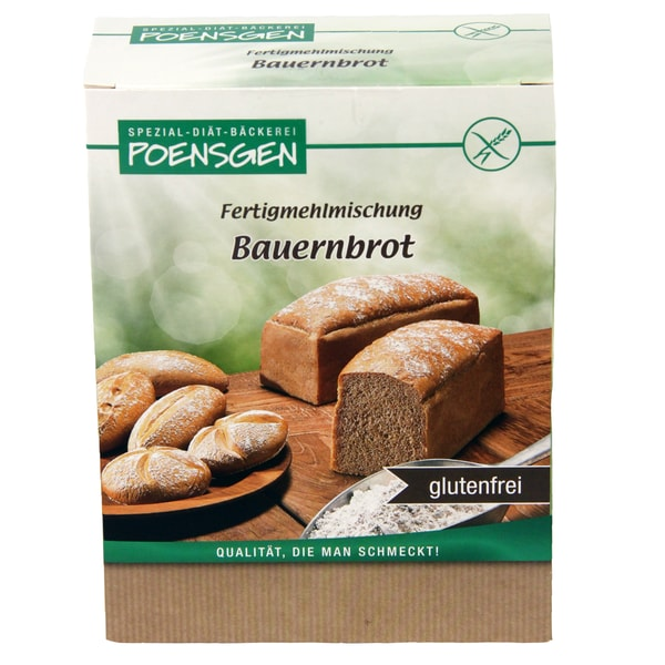 Poensgen Bauernbrot Backmischung Glutenfrei 500g